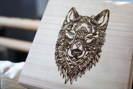 Wolf Box Woodburning